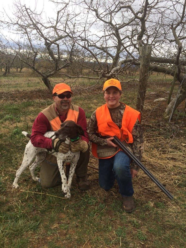 Mentor Tim Palmer with his young handler and shooter - Sam Curley