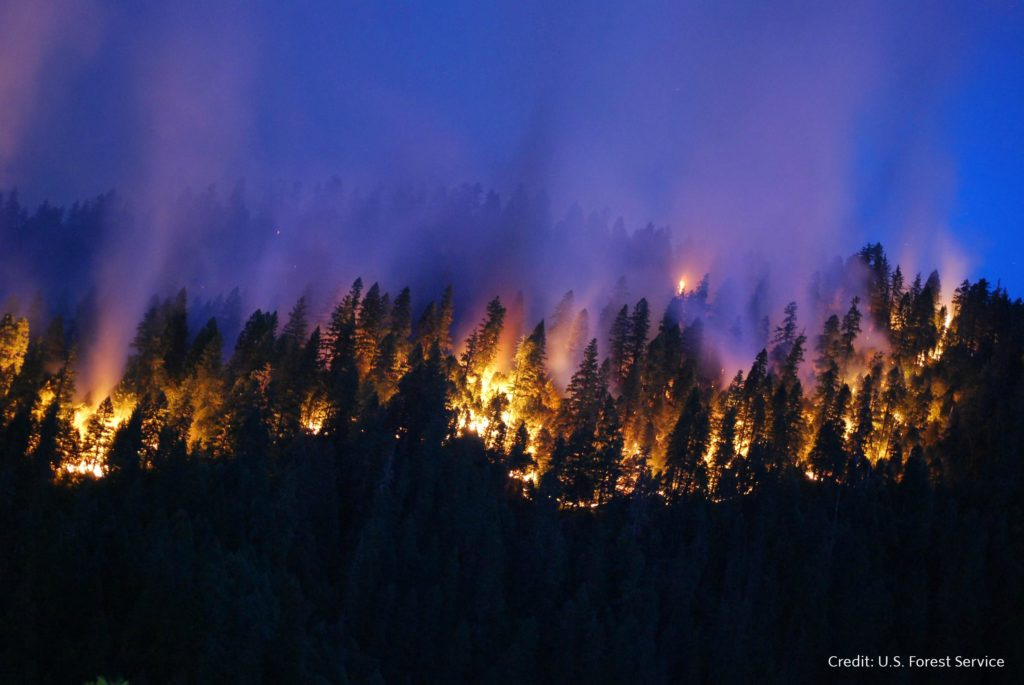 The Happy Camp Complex Fire in the Klamath National Forest in California began on Sep. 17, 2014 from lightening and has consumed 125, 788 acres to date and is 68% contained. U.S. Forest Service photo.